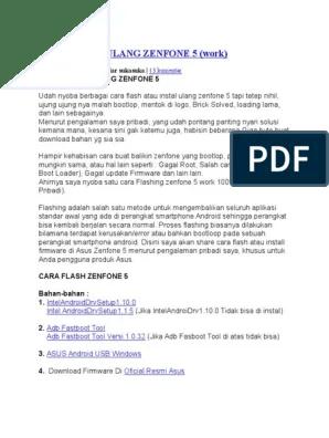 Cara Install Ulang Zenfone 5 : install, ulang, zenfone, Instal, Ulang, Zenfone