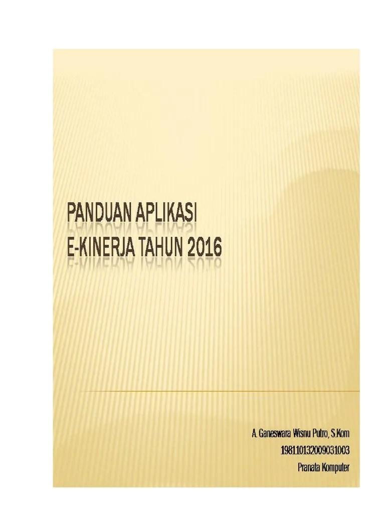 E Kin Semarangkota : semarangkota, Panduan, Operasional, Ekinerja