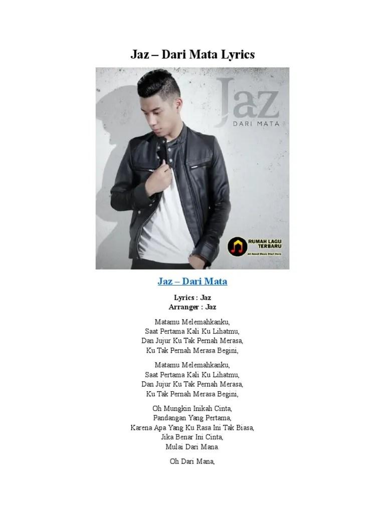 Lirik Jaz Dari Mata : lirik, Acoustic, Cover, Izzat, Chords, Cute766