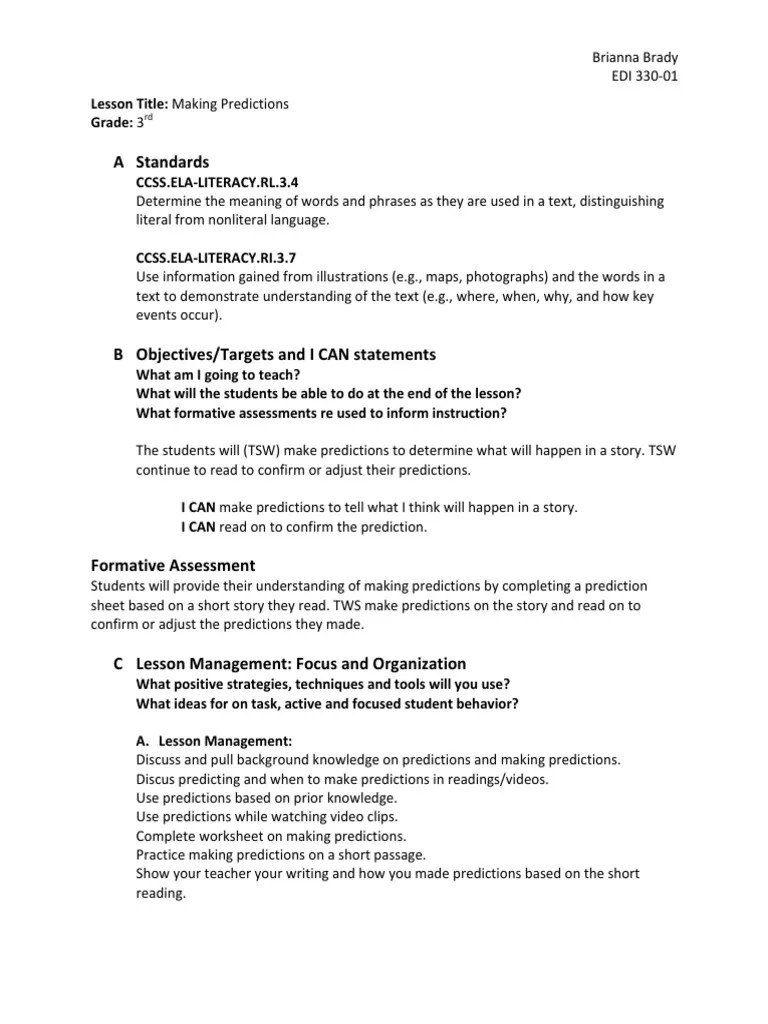 small resolution of making predictions   Educational Assessment   Pedagogy