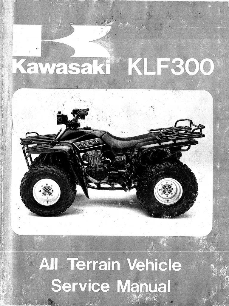 medium resolution of kawasaki bayou 300 service manual repair bearing mechanical throttle