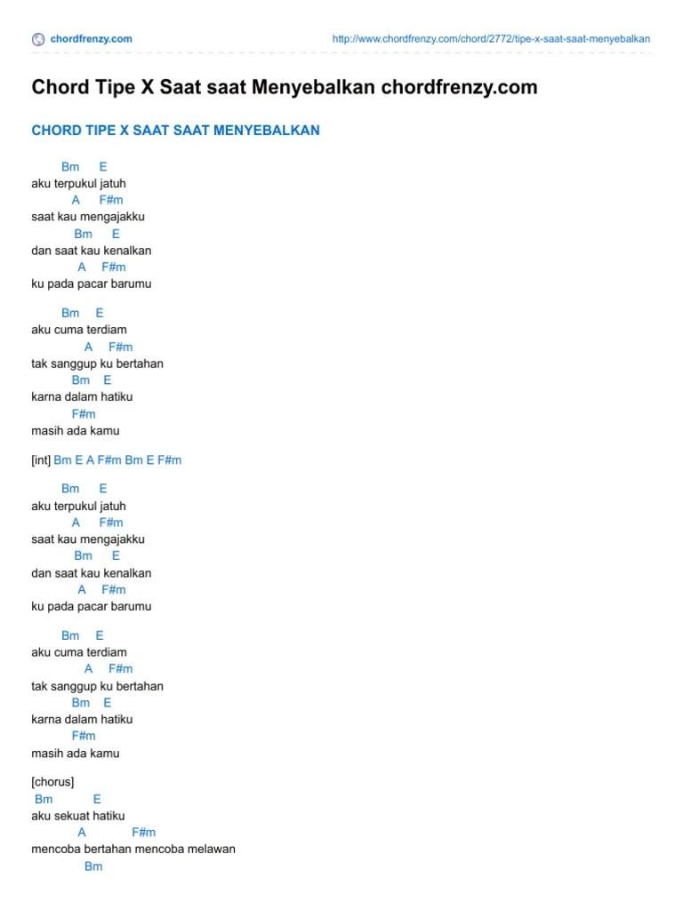 Kunci Gitar Tip X : kunci, gitar, Chord, Menyebalkan, Chordfrenzycom.pdf