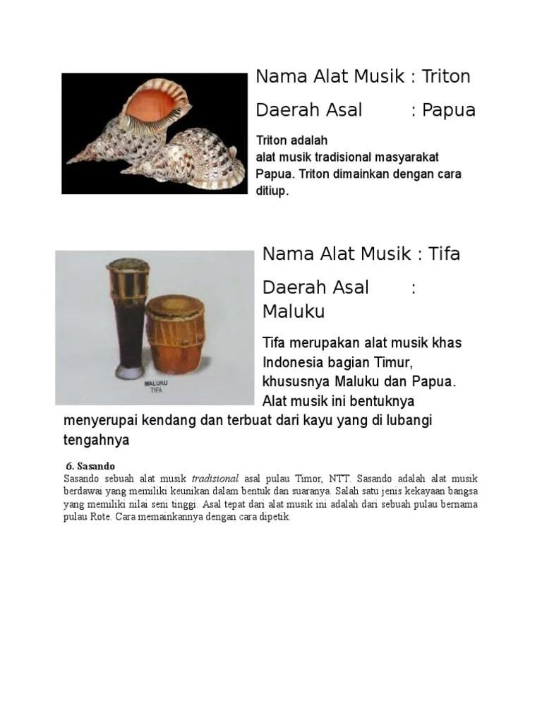 Alat Musik Khas Indonesia Bagian Timur : musik, indonesia, bagian, timur, Musik, Tradisional