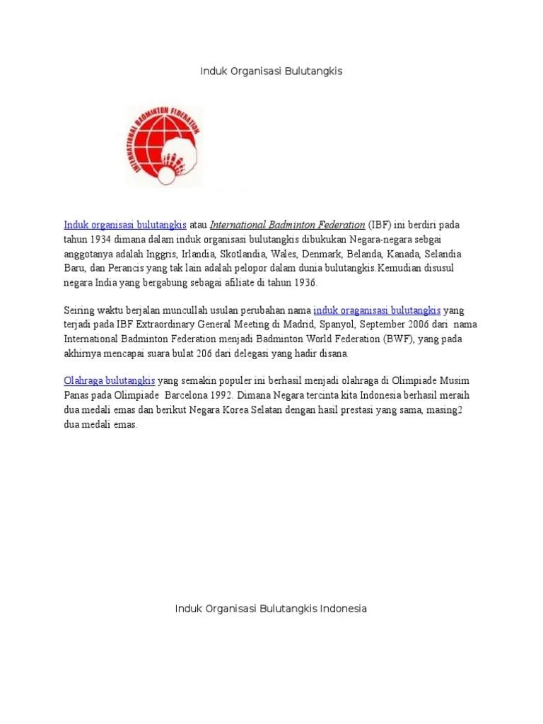 Induk Organisasi Badminton : induk, organisasi, badminton, Induk, Organisasi, Bulutangkis