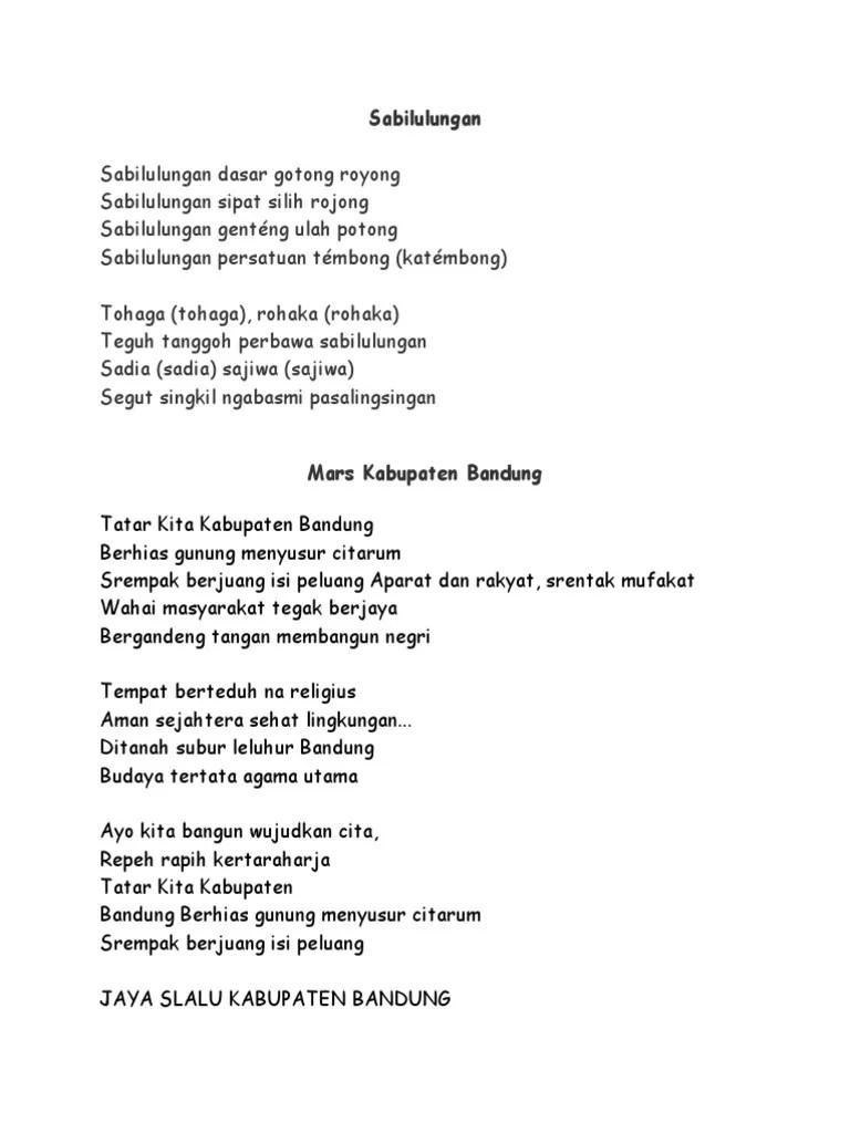 Lirik Lagu Sabilulungan : lirik, sabilulungan, Lirik