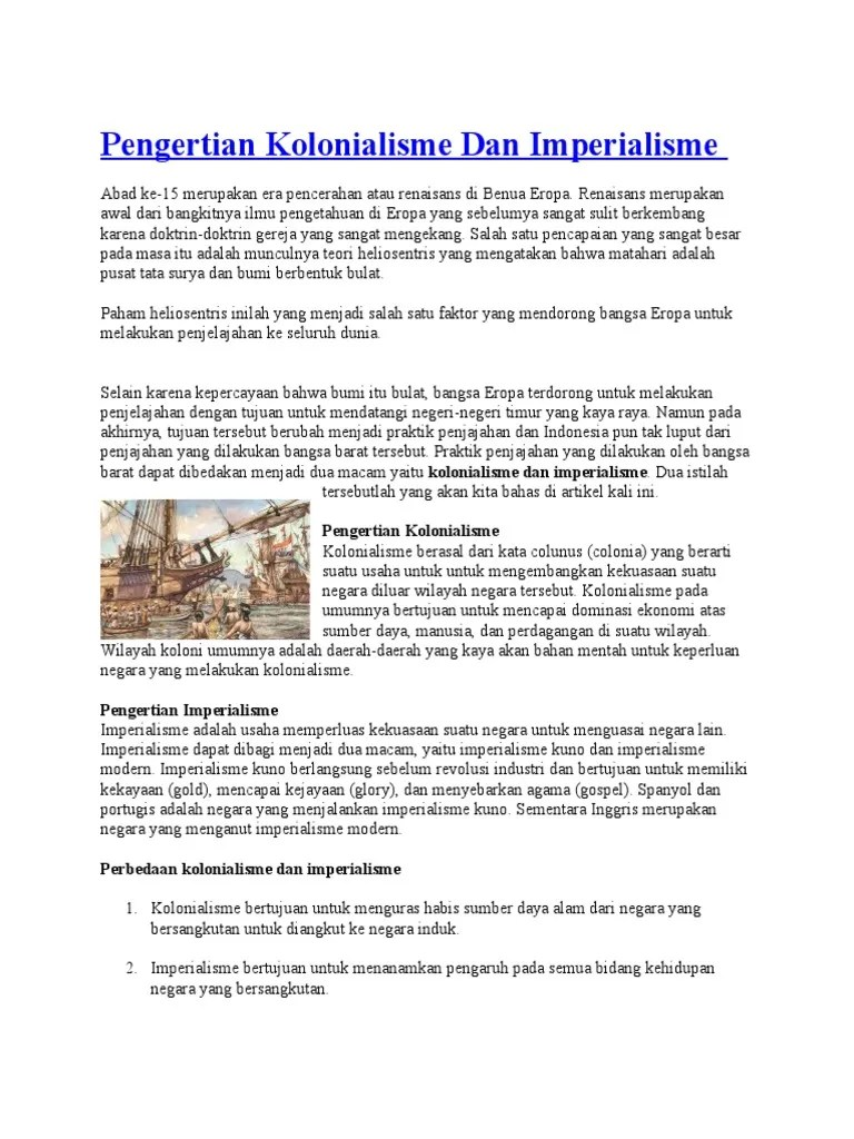 Arti Kolonialisme Dan Imperialisme : kolonialisme, imperialisme, Pengertian, Kolonialisme, Imperialisme.docx