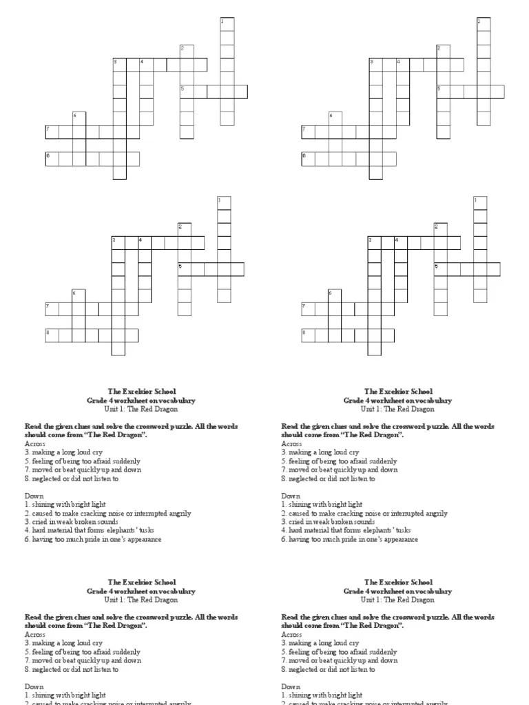 medium resolution of Grade 4 Unit 1 Crossword Puzzle   Crossword   Single Player Games