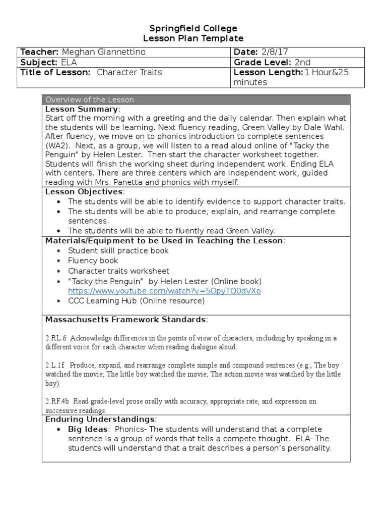 medium resolution of character traits lesson   Phonics   Educational Assessment