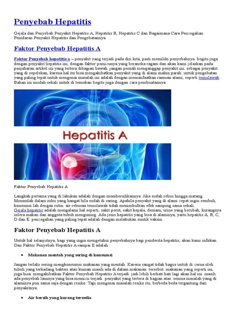 APA Penyebab Hepatitis