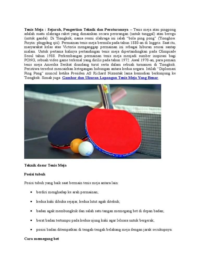 Teknik Memegang Bet Tenis Meja : teknik, memegang, tenis, Tenis, Meja.docx