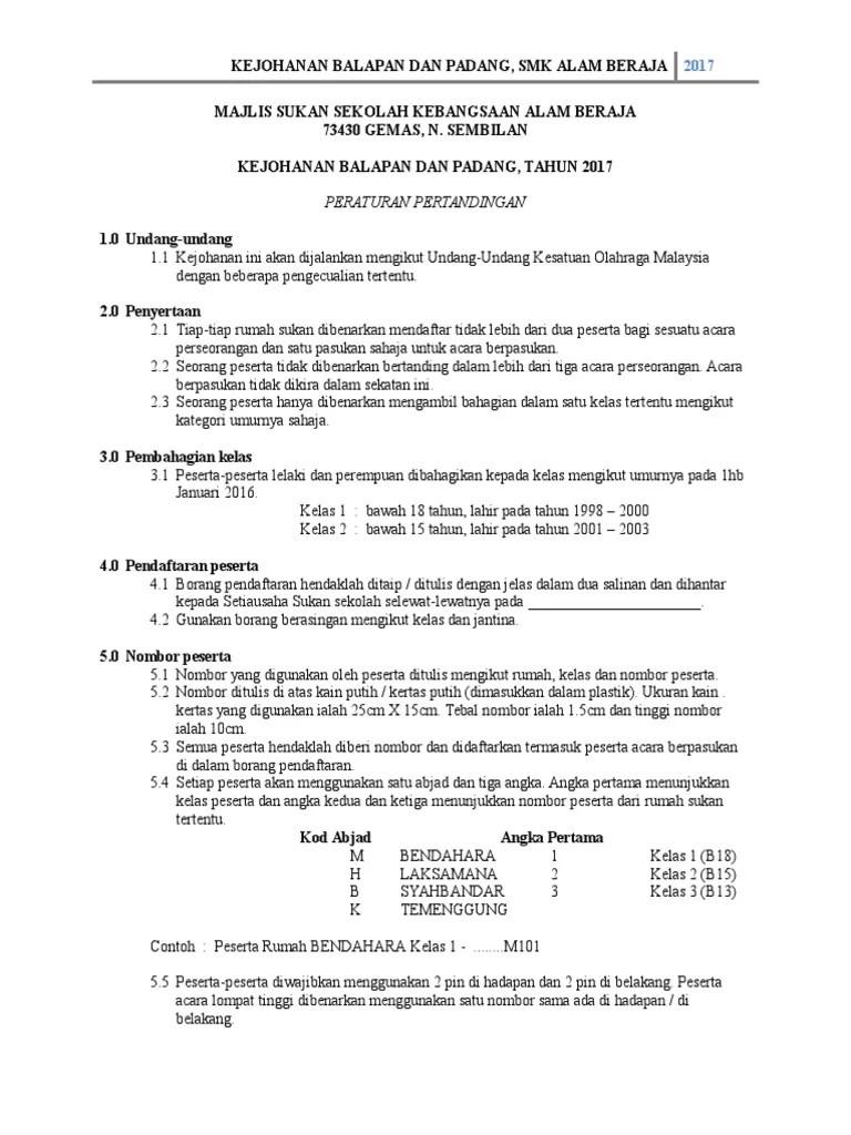 Peraturan Olahraga : peraturan, olahraga, Undang, Peraturan, Olahraga