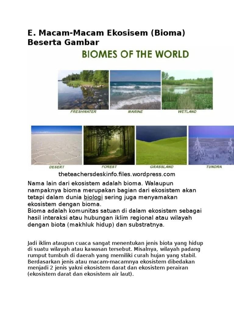 Ciri Ciri Ekosistem : ekosistem, Contoh, Ekosistem, Buatan, Beserta, Cirinya, James, Cute766