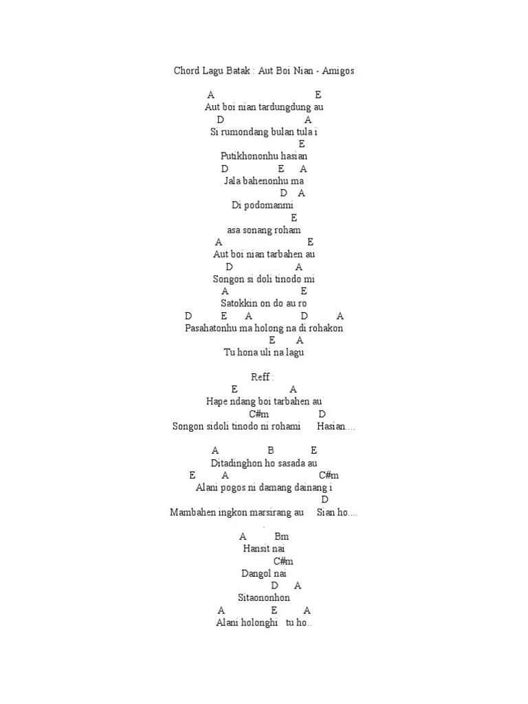 Bunga Ni Holong Chord : bunga, holong, chord, Chord, Batak
