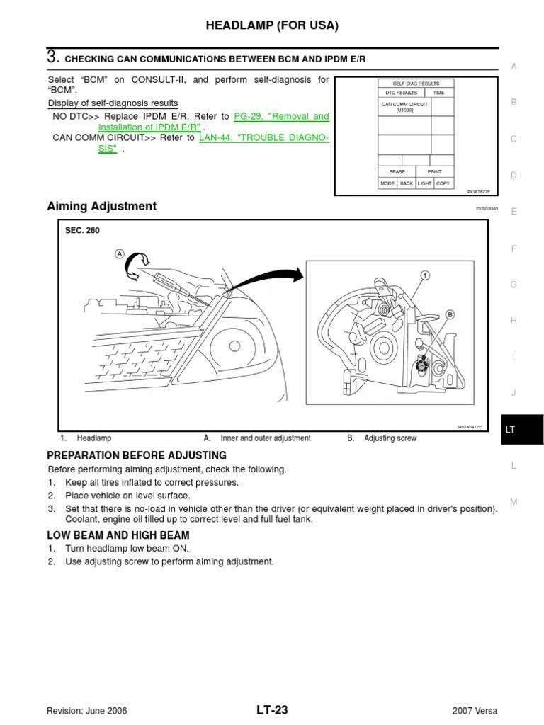 medium resolution of nissan versa headlight switch wiring diagram