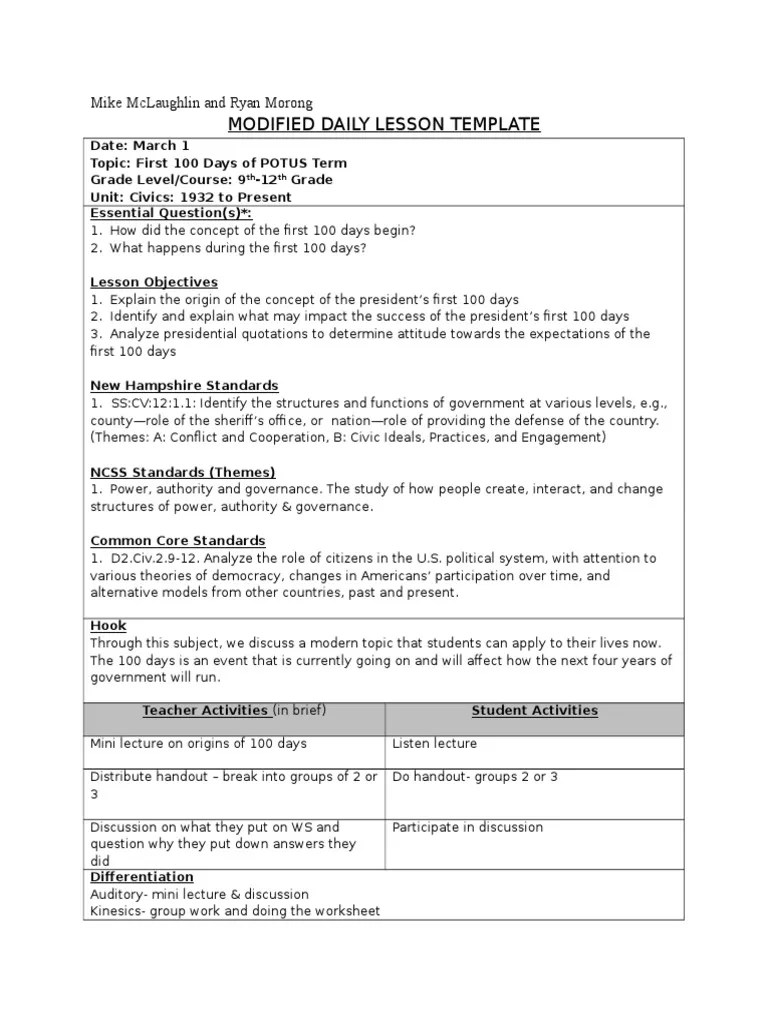 small resolution of first 100 days lesson plan   Behavioural Sciences   Psychology