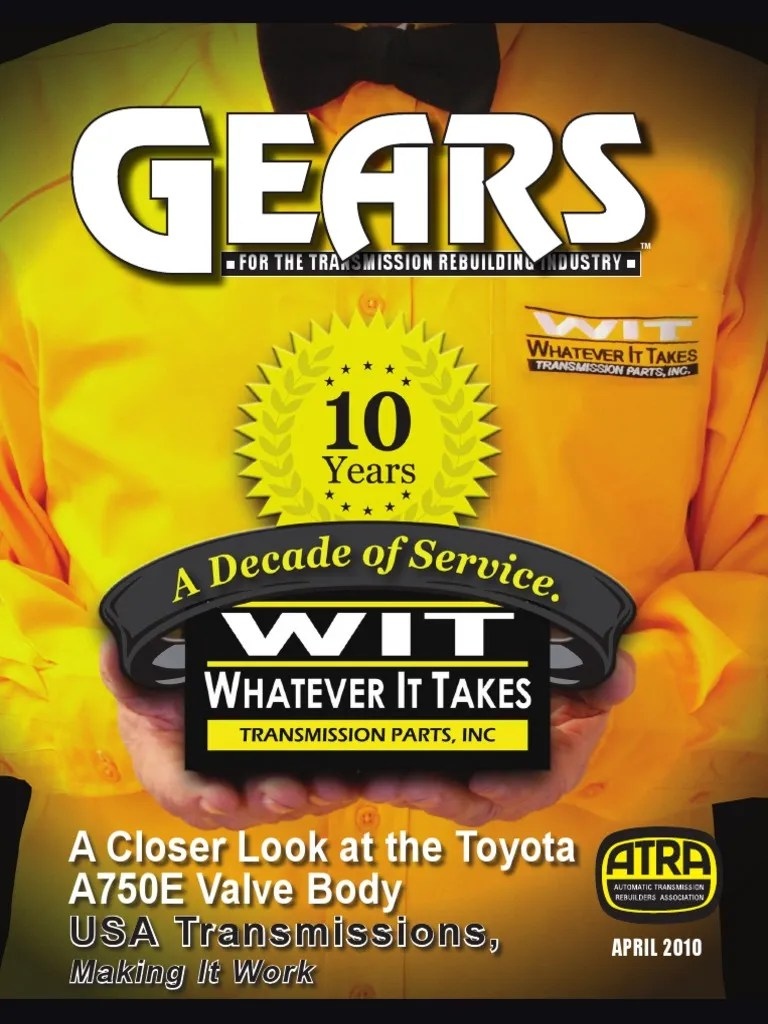 hight resolution of a closer look at the toyota a750e valve body pdf manual transmission clutch