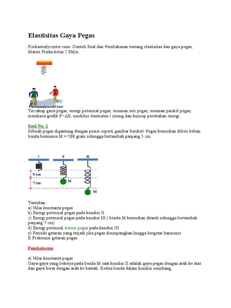 Rumus Energi Potensial Pegas : rumus, energi, potensial, pegas, Contoh, Energi, Potensial, Pegas, Penyelesaiannya