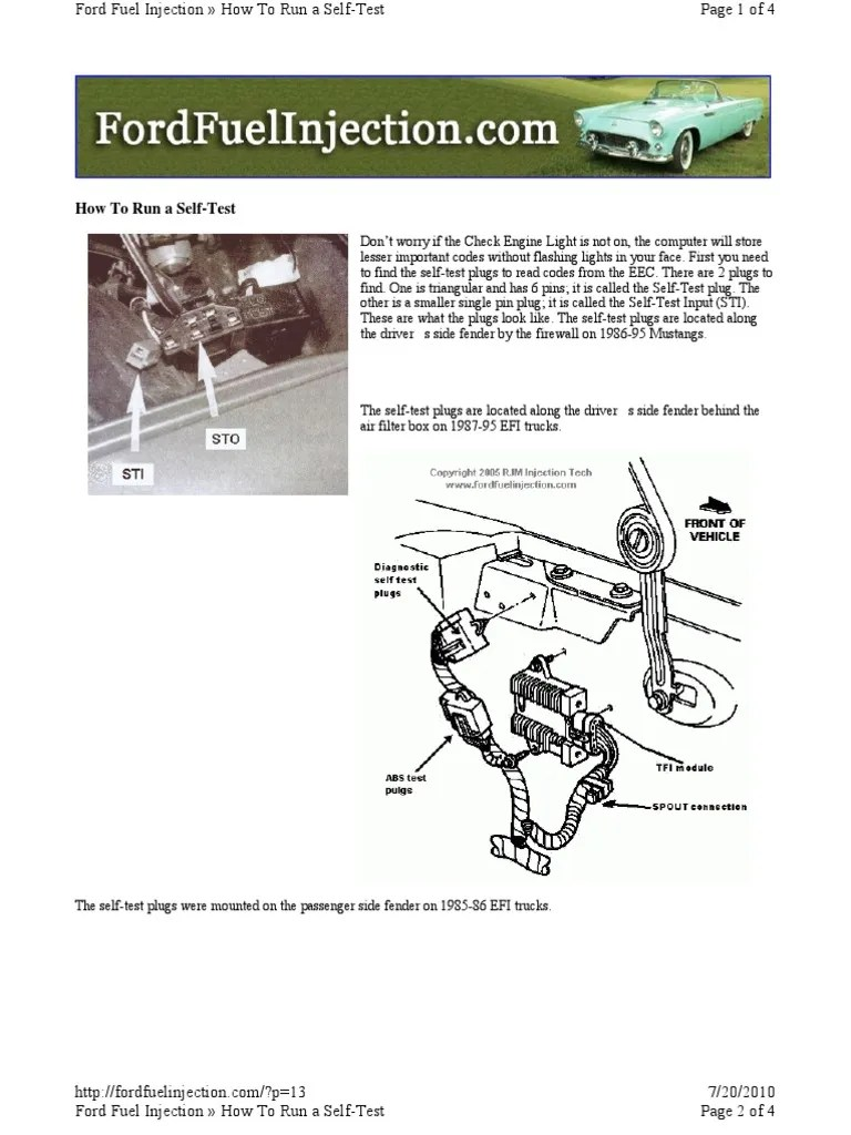 ford obd1 codes and procedure fuel injection transmission mechanics  [ 768 x 1024 Pixel ]