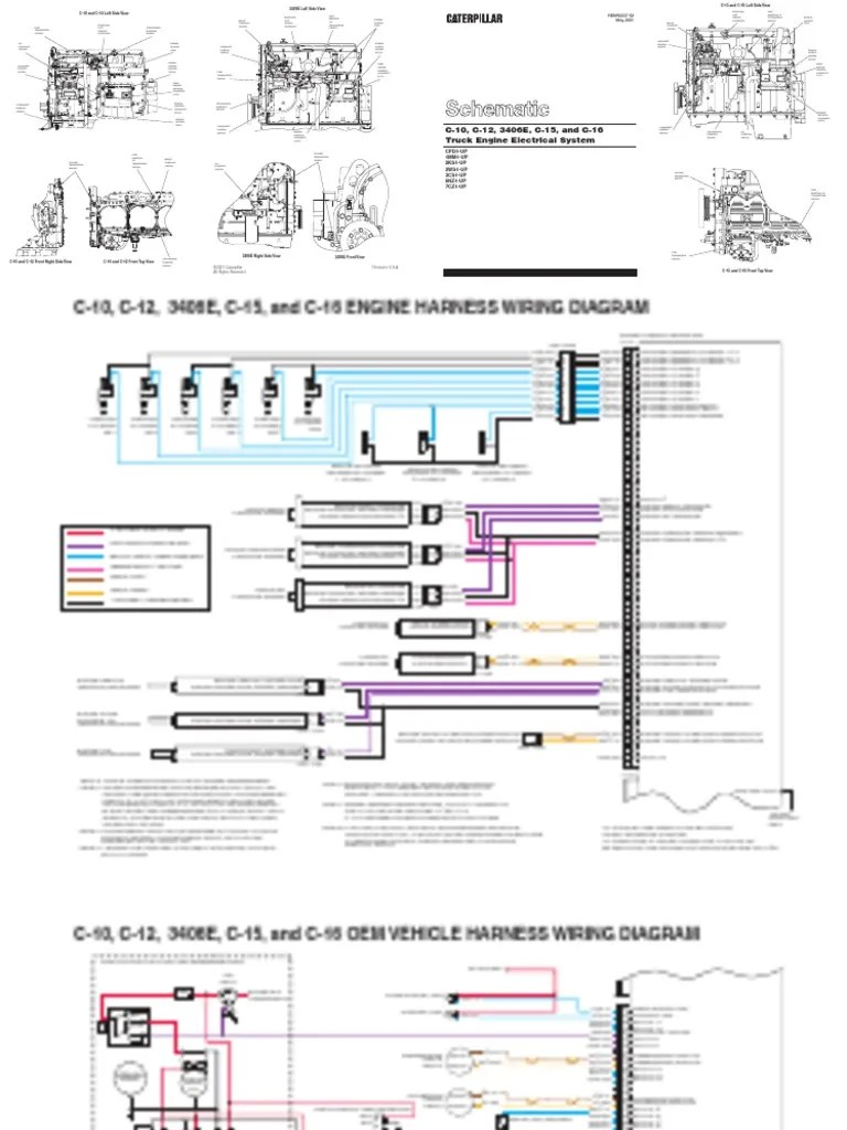 hight resolution of c 10 c 12 3406e c 15 and c 16 truck engine electrical system pdf diesel air brake diagram cat 3406e wiring diagram cooling fan