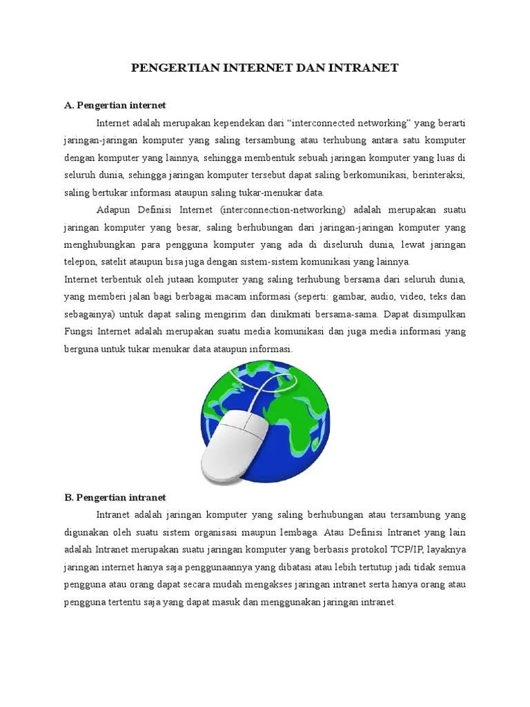 Perbedaan Internet Dan Intranet : perbedaan, internet, intranet, Pengertian, Internet, Intranet