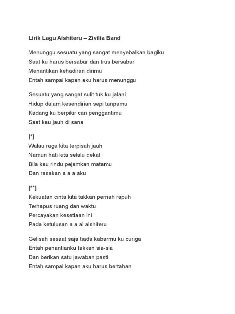 Lirik Lagu Dekat Di Hati : lirik, dekat, Aishiteru