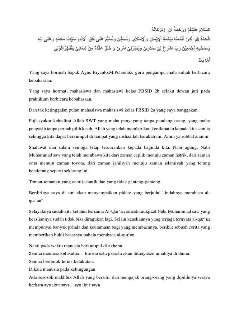Teks Ceramah Santri Lucu Bahasa Sunda 21 Pidato Bahasa