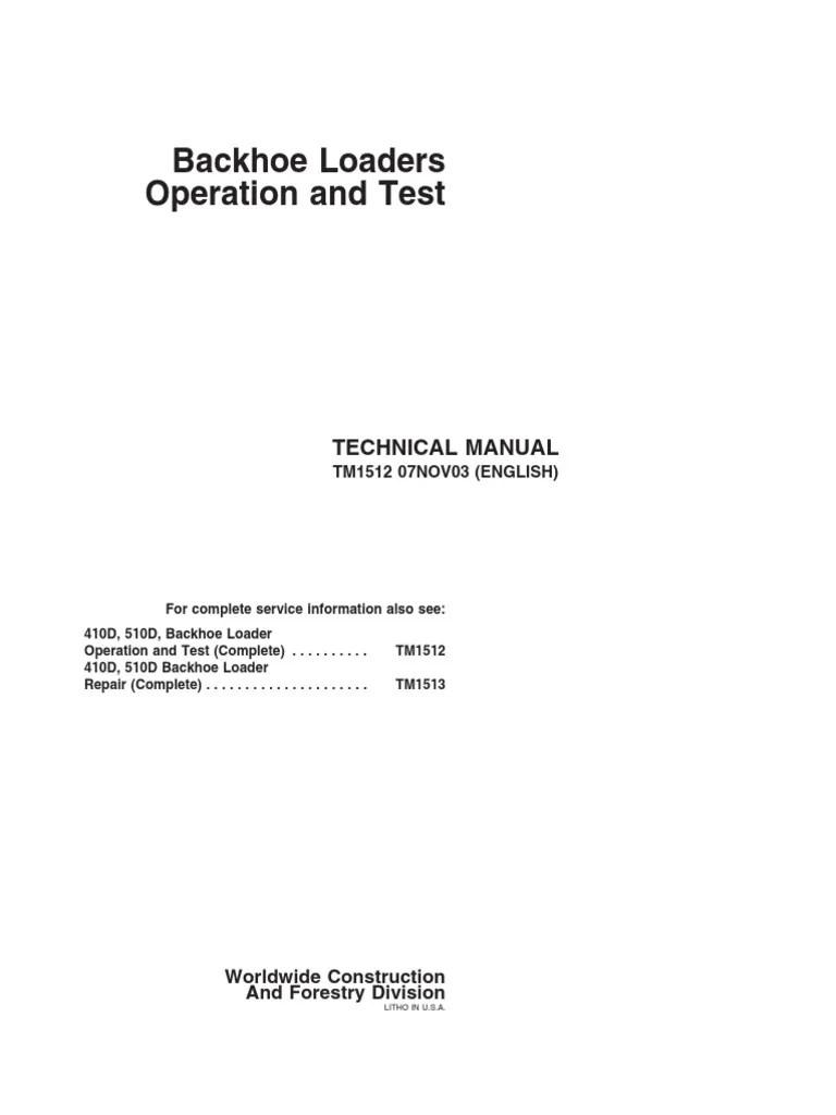 medium resolution of john deere 410d 510d retroexcavadora funcionamiento y pruebas wiring diagram john deere 510d