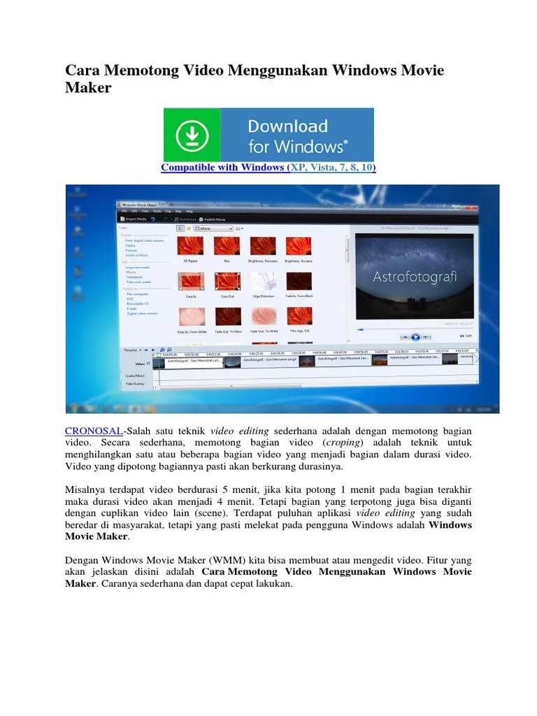 Cara Memotong Video Di Windows Movie Maker : memotong, video, windows, movie, maker, Memotong, Video, Menggunakan, Windows, Movie, Maker