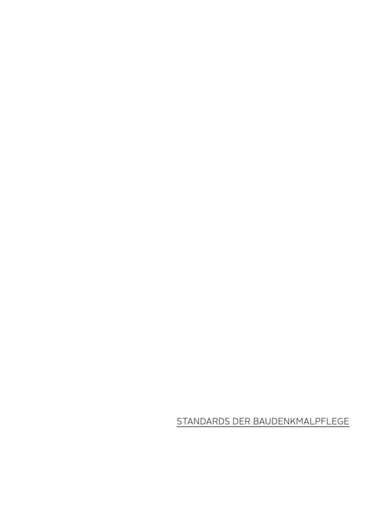 Bda Standards Der Baudenkmalpflege 2014