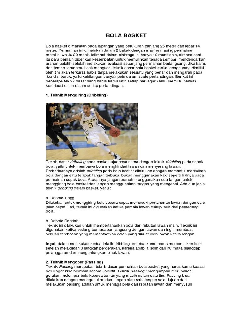 Teknik Menggiring Bola Rendah Pada Permainan Bola Basket Dilakukan Untuk : teknik, menggiring, rendah, permainan, basket, dilakukan, untuk, Basket:, Teknik, Menggiring, (Dribbling)