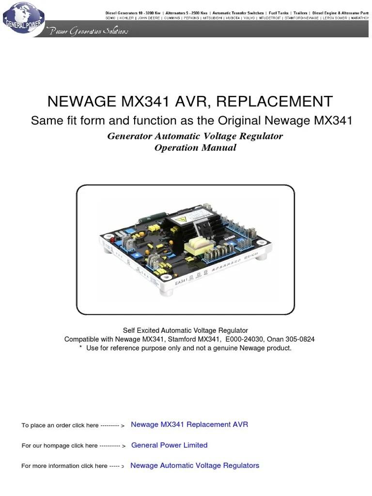 newage mx341 automatic voltage regulator pdf electric generator light emitting diode [ 768 x 1024 Pixel ]