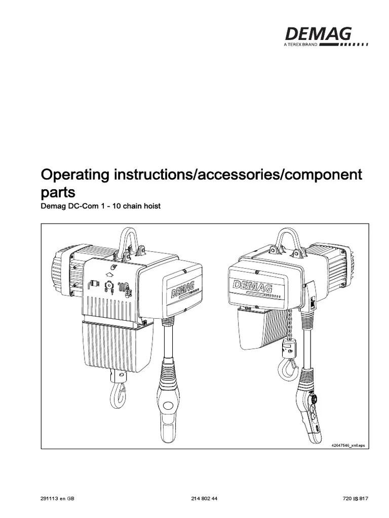 demag dc chain hoist diagram wiring diagram for you demag hoist wiring diagram demag dc pro [ 768 x 1024 Pixel ]