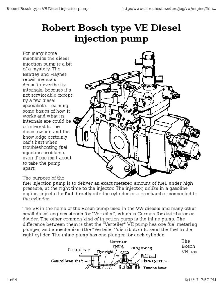 hight resolution of diesel injector pump diagram