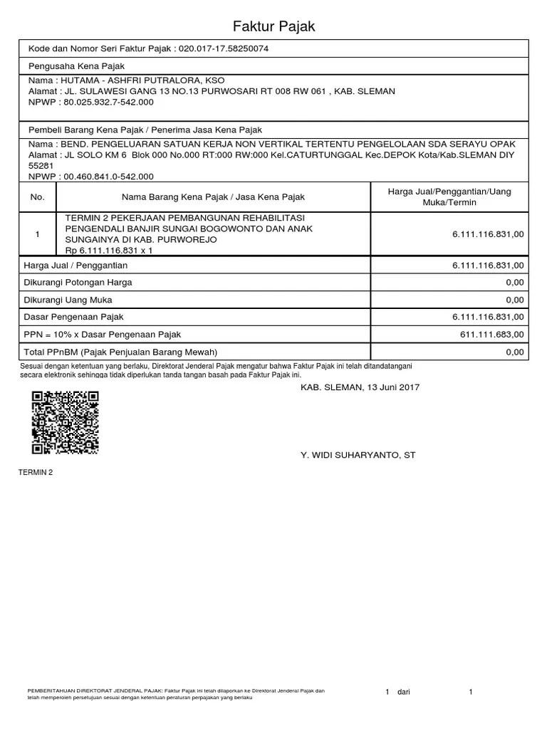 Kode Faktur Pajak 020 : faktur, pajak, Pajak
