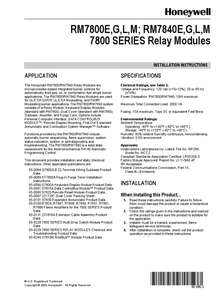 hight resolution of honeywell rm7800 40 pdf electrical wiring relay honeywell 7800 burner control wiring diagram