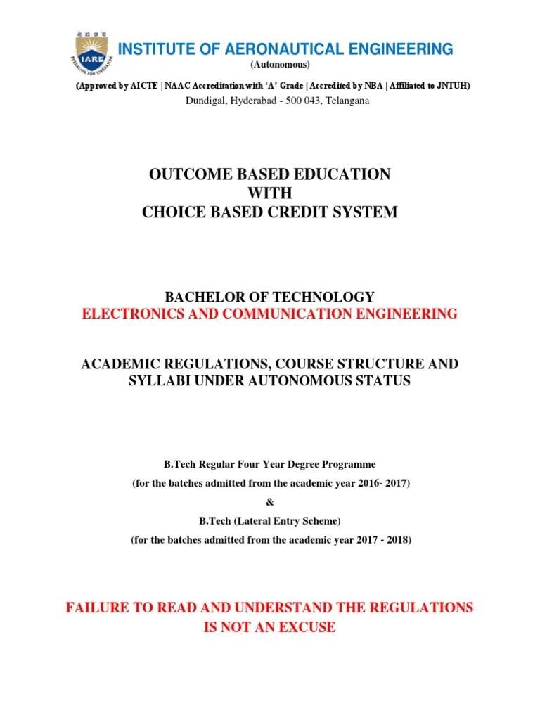 Ece Autonomous Regulations and Syllubus_6   Course Credit   Academic ...