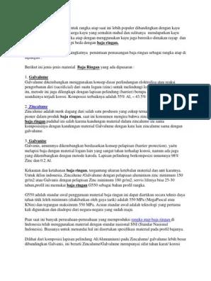 perbedaan baja ringan galvanis dan zincalum zincalume dengan galvalume