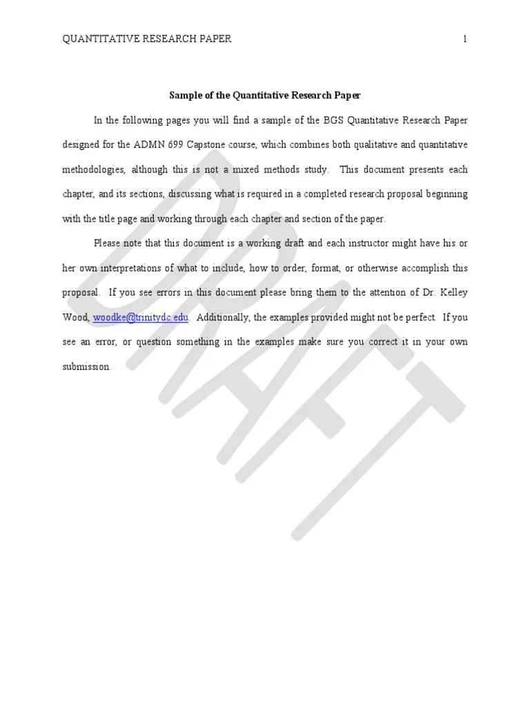 Apa 6 Bgs Quantitative Research Paper 03 2015 Correlation And