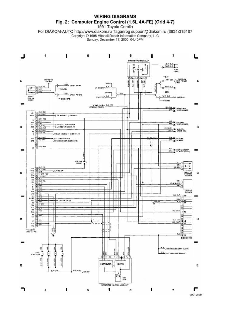 medium resolution of toyotum ecu wiring diagram 1990