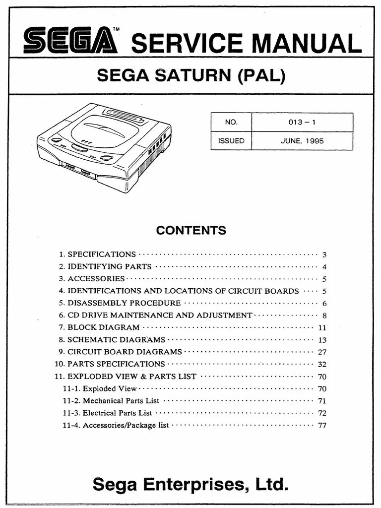 small resolution of sega service manual sega saturn pal 013 1 june 1995 texture image de synth se infographie