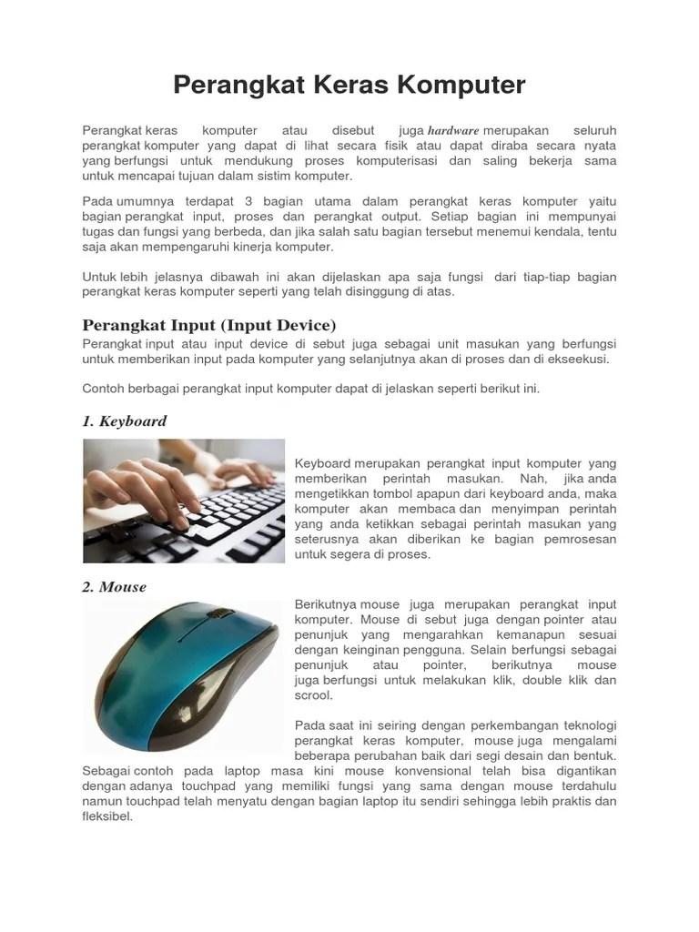 Contoh Perangkat Keras Komputer : contoh, perangkat, keras, komputer, Kliping, Perangkat, Keras, Komputer.docx