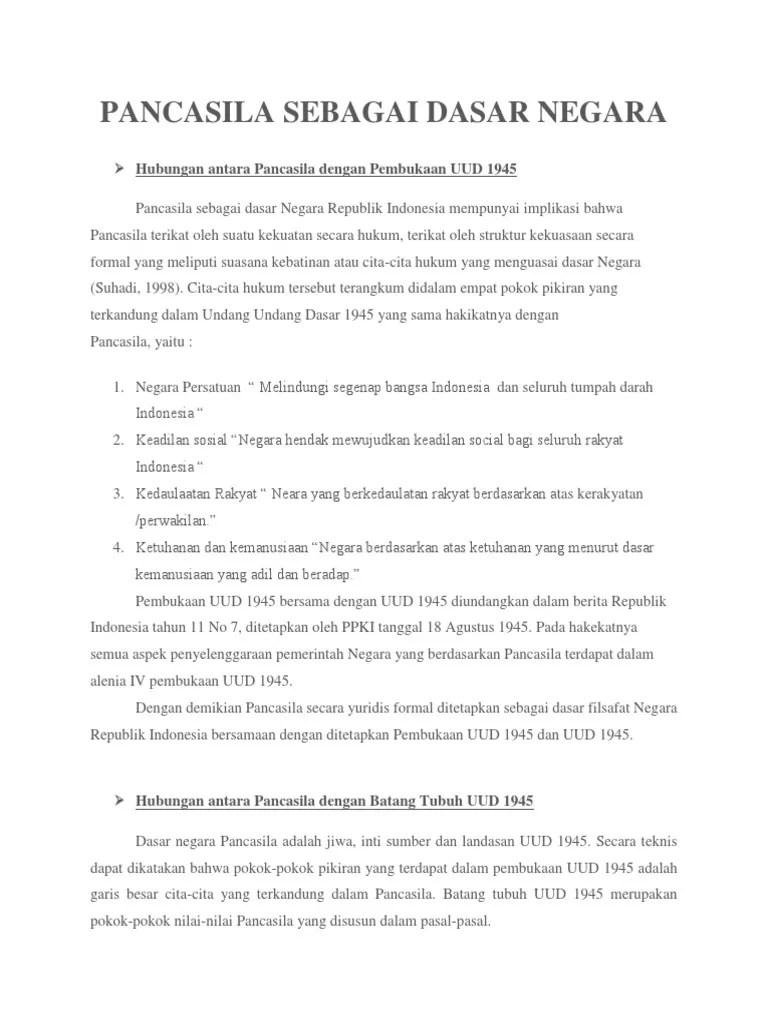 Suasana Kebatinan Atau Cita-cita Hukum Dasar Negara Ri Terangkum Dalam : suasana, kebatinan, cita-cita, hukum, dasar, negara, terangkum, dalam, Pancasila, Sebagai, Dasar, Negara