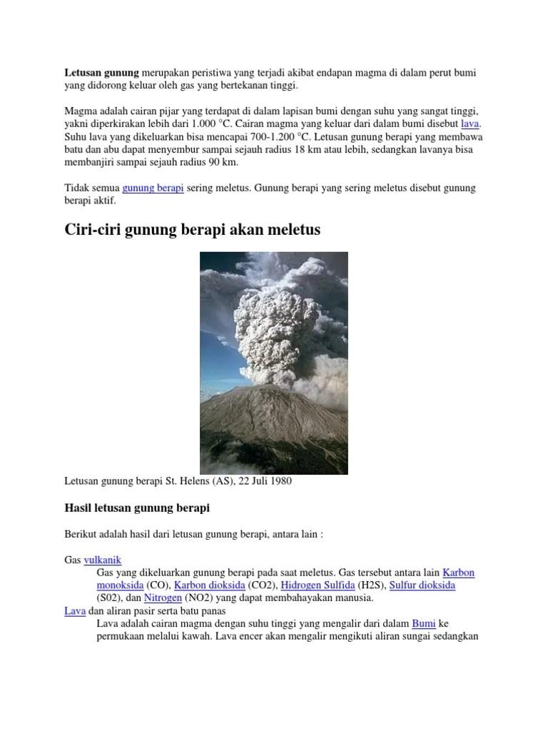 Awan Panas Yang Keluar Dari Letusan Gunung Berapi Disebut : panas, keluar, letusan, gunung, berapi, disebut, Letusan, Gunung, Merupakan, Peristiwa, Terjadi, Akibat, Endapan, Magma, Dalam, Perut, Didorong, Keluar, Bertekanan, Tinggi