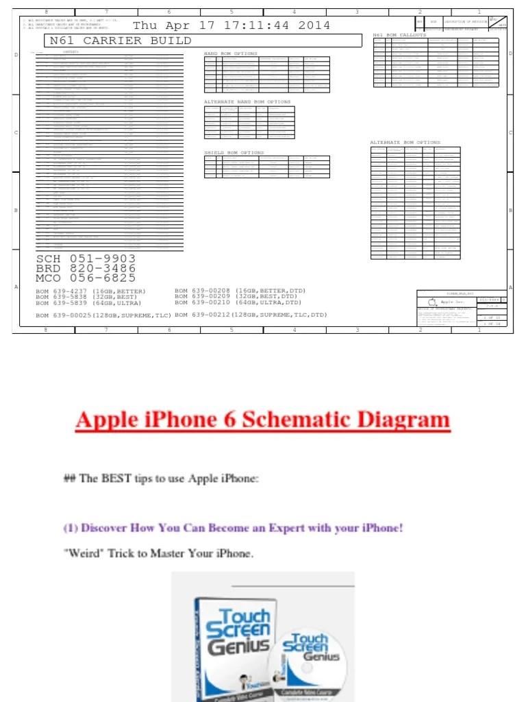 medium resolution of apple iphone 6 schematic diagram pdf telecommunications engineering telecommunications