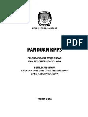 Buku Panduan Kpps 2019 Pdf : panduan, Draft, Panduan, KPPS.pdf