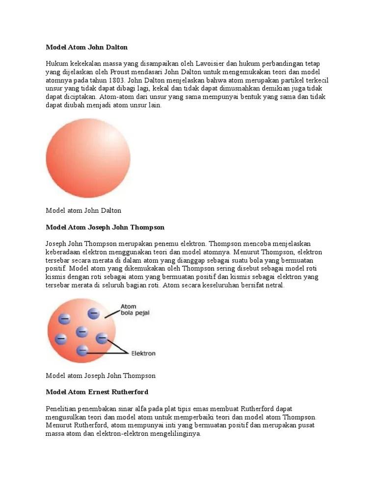 Teori Atom Roti Kismis : teori, kismis, Model, Kismis, Dikemukakan, Seputar