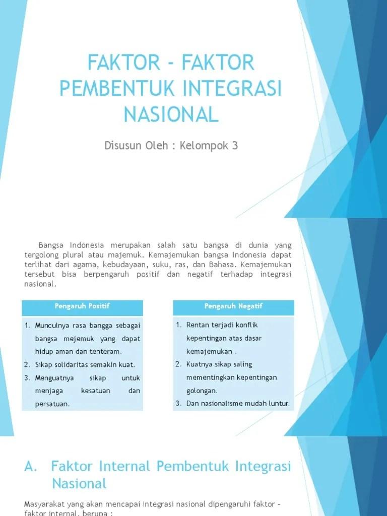 Faktor Faktor Pembentuk Bangsa Indonesia : faktor, pembentuk, bangsa, indonesia, Faktor, Pembentuk, Integrasi, Nasional