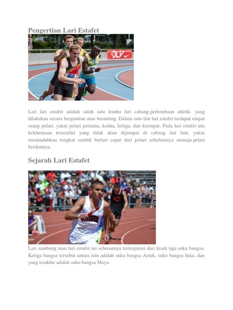 Kemana Arah Pelari Pertama Pada Lari Estafet : kemana, pelari, pertama, estafet, Pengertian, Estafe1
