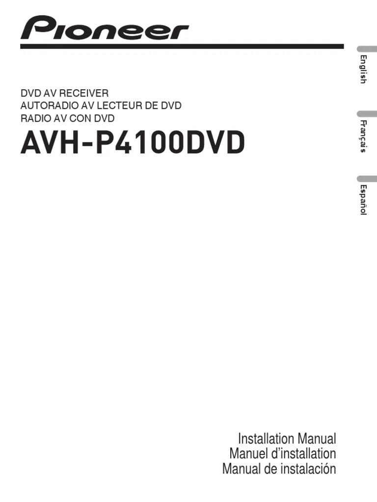 medium resolution of pioneer avh p4100dvd installation manual coaxial cablepioneer avh p4100dvd installation manual coaxial cable electrical connector