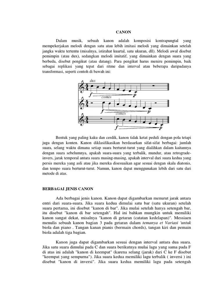 Contoh Lagu Kanon : contoh, kanon, Canon